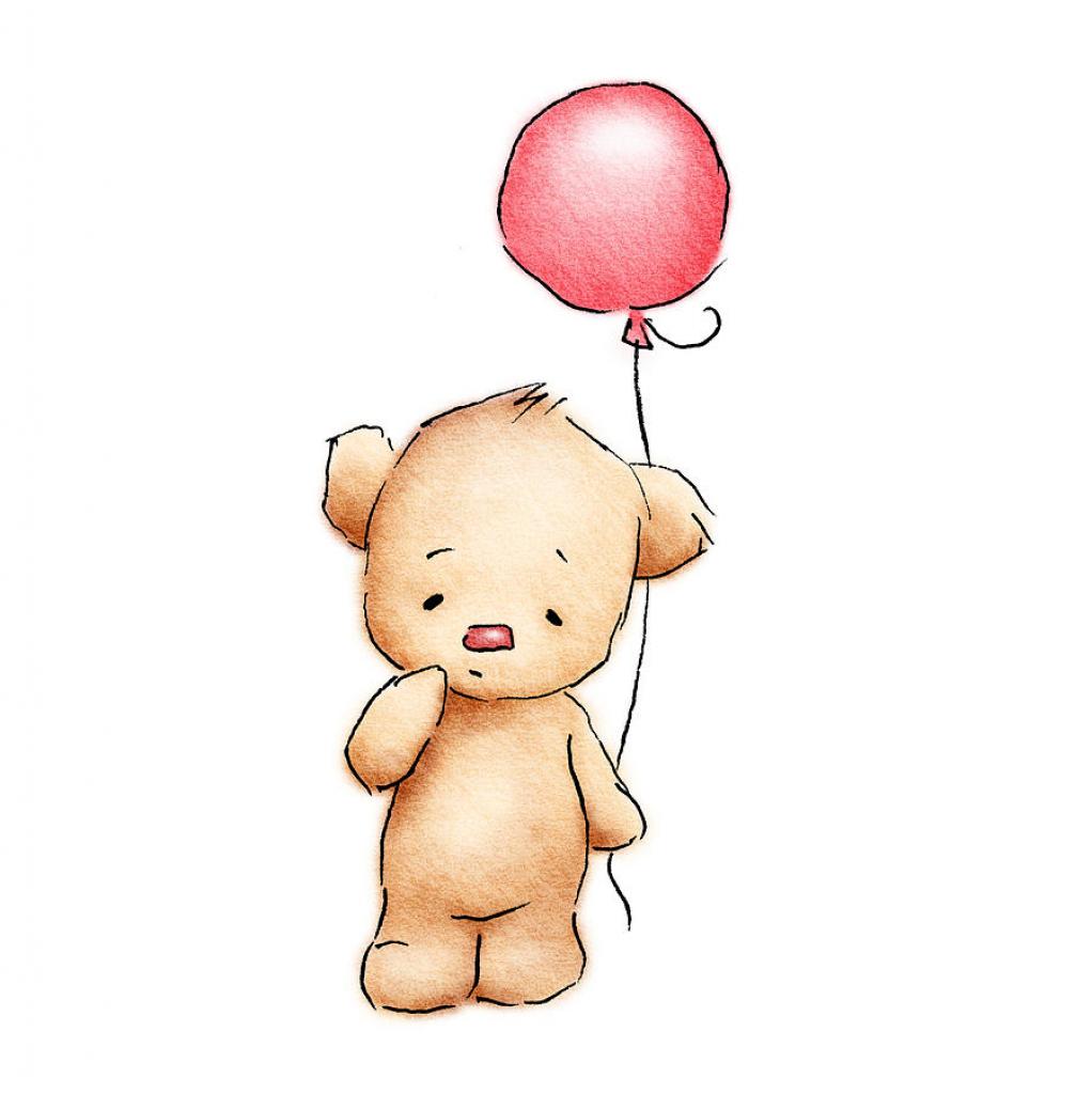 1022x1024 Cute Baby Bear Drawing Ba Bears Bear Drawing And Red Balloon