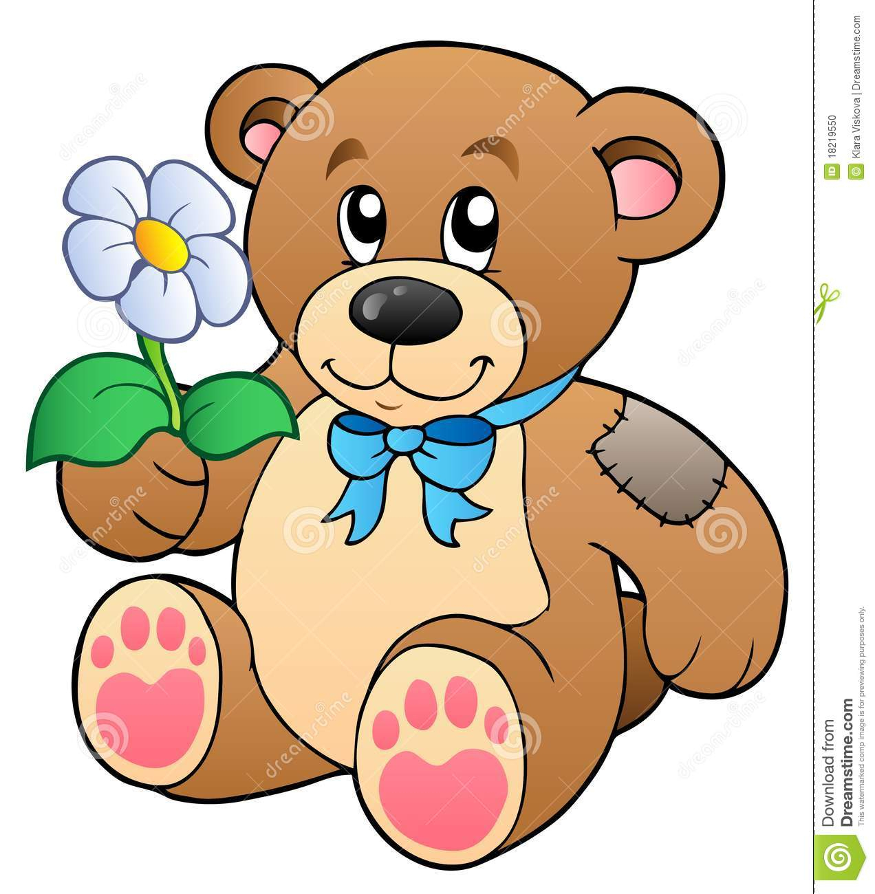 1272x1300 Teddy Bear Drawing With Heart And Flowers