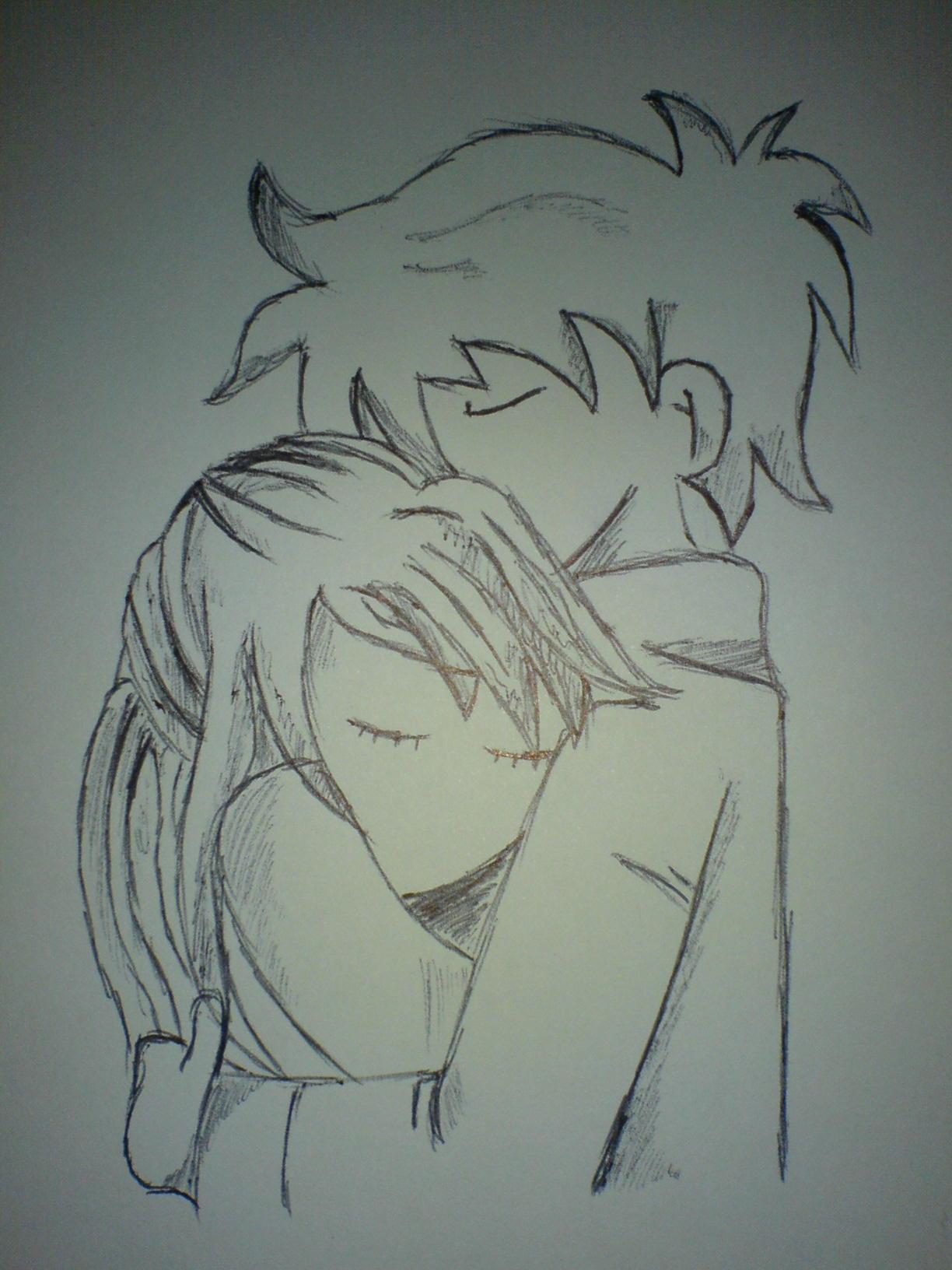 1224x1632 Cute Boy And Girl Drawing Boy Hugging Girl From Behind Cute
