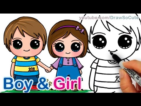 480x360 How To Draw A Cute Boy And Girl Holding Hands Step By Step Best