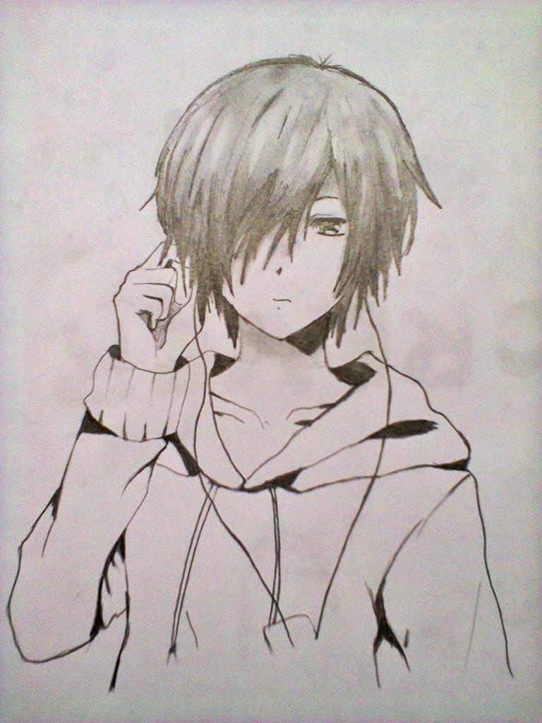 768x1024 Cute Boy Pencil Drawing Cute Anime Boys Sketches Anime Boy