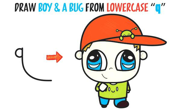 600x363 Cute Alien Drawings How To Draw A Boy With A Cute Bug On His