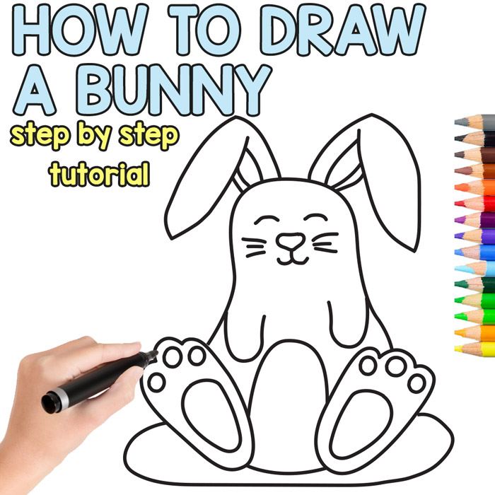 700x700 How To Draw A Bunny Cute