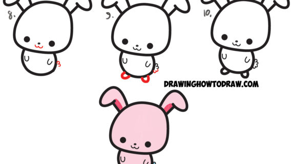 Cute Bunny Drawing Step By Step At Getdrawings Com Free For