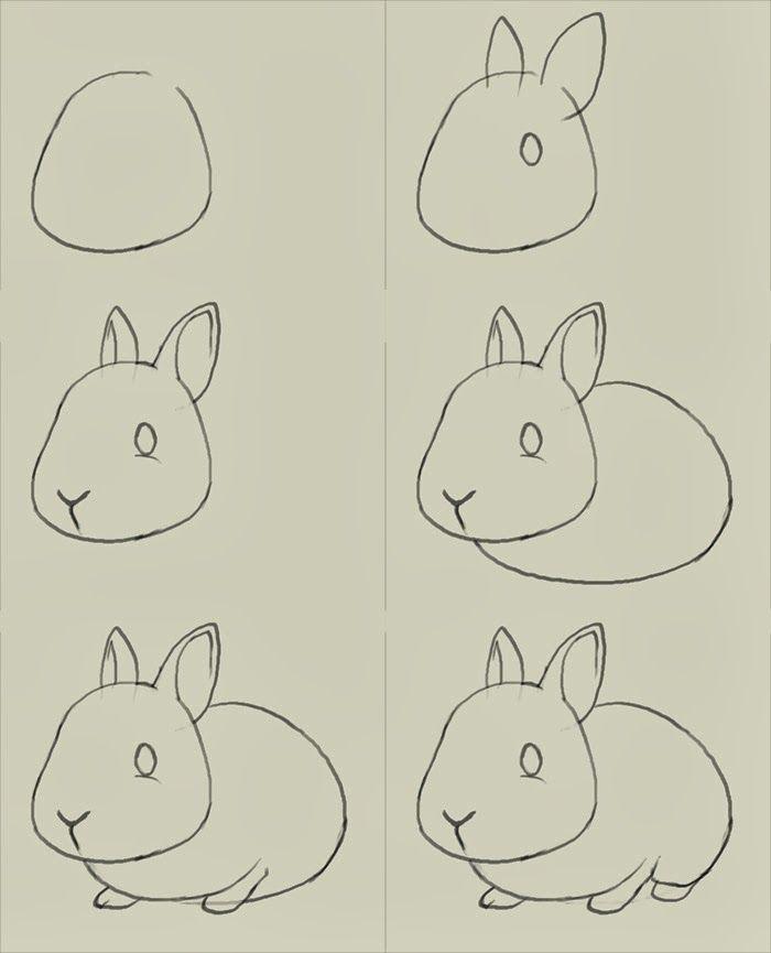 1513x1168 rabbit drawing step by step how to draw a cute cartoon sleeping 700x865 tãcnicas para aprender a desenhar