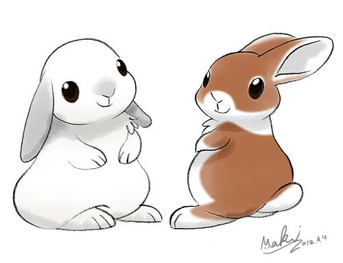 500x383 Cute Rabbit Illustration