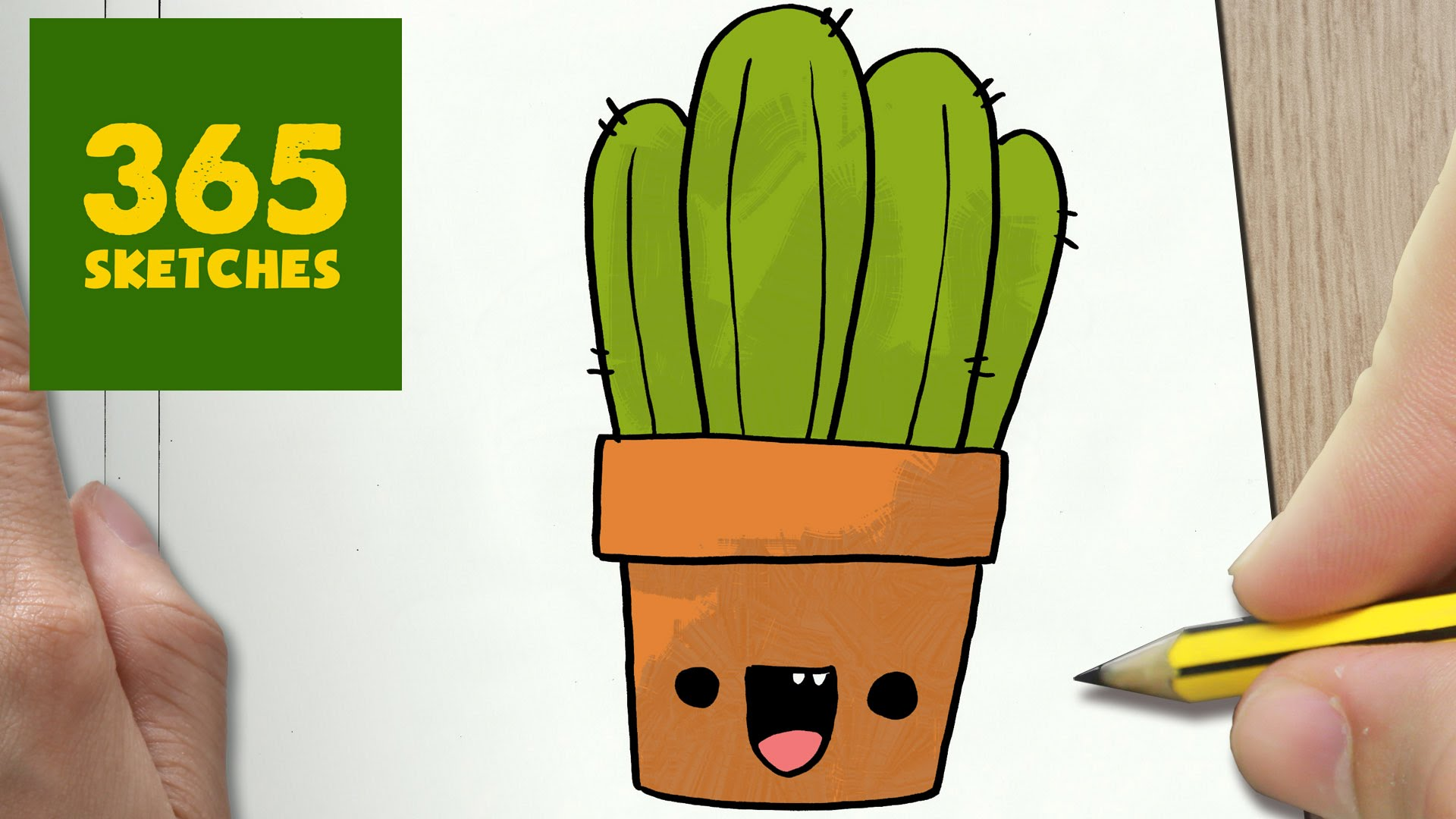cute cactus drawing at free for personal. Black Bedroom Furniture Sets. Home Design Ideas