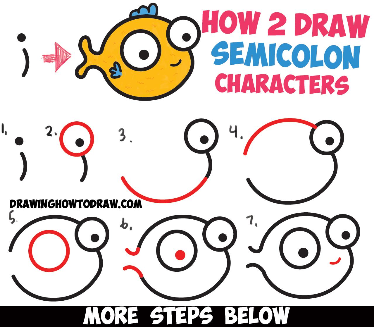 1279x1118 Cute Cartoon Characters To Draw How To Draw Cute Cartoon