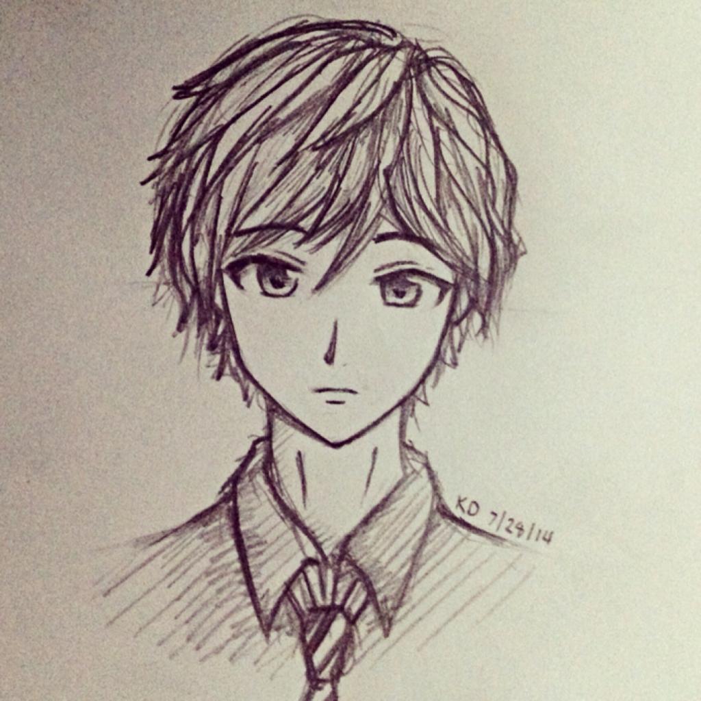 1024x1024 Anime Pic Girl Pencil Art Cute Cute Anime Sketches In Pencil Cute