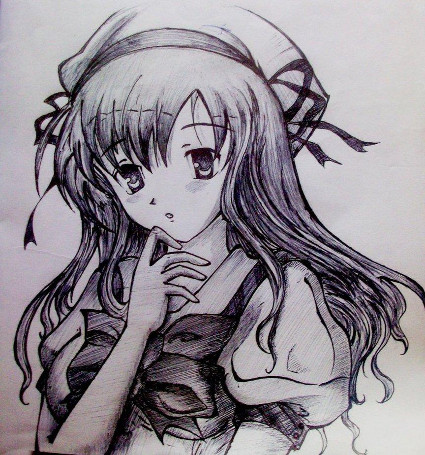 864x924 Cute Cartoon Girl Sketches