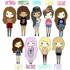 236x236 Cute Cartoon People! By Tumblinggirl Liked On Polyvore
