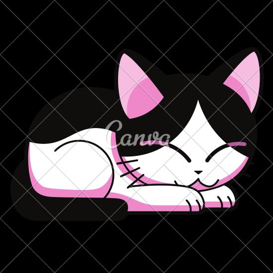 550x550 Cartoon Cute Cat