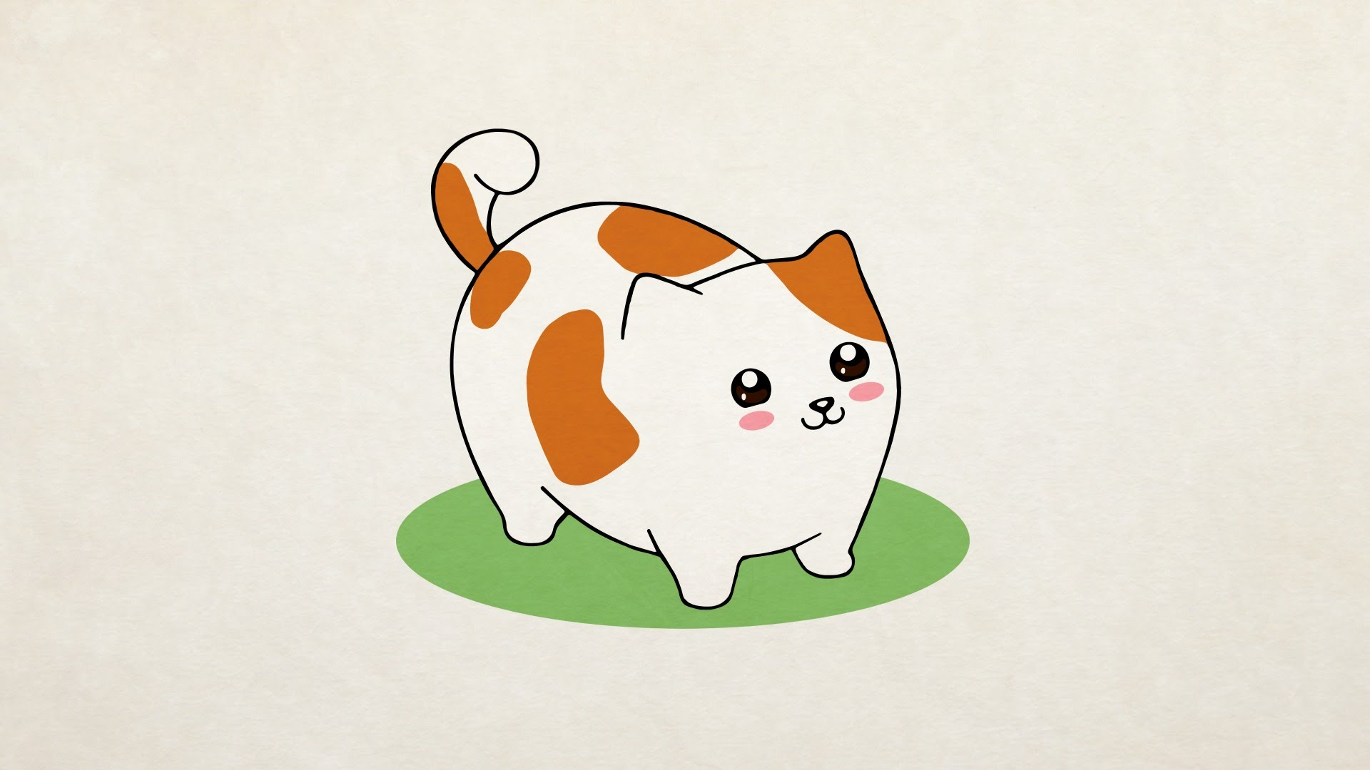 1920x1080 How To Draw] A Cute Cat