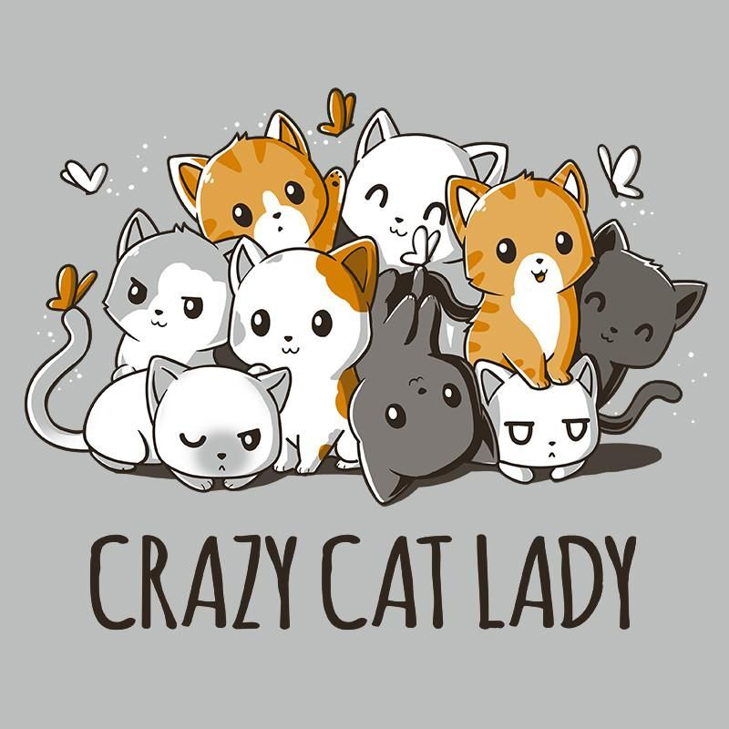 800x800 Crazy Cat Lady T Shirt Teeturtle Wanted Crazy Cat
