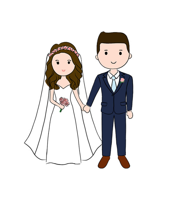 570x713 Chibi Couple Drawing Save The Date Couple Doodle Drawing