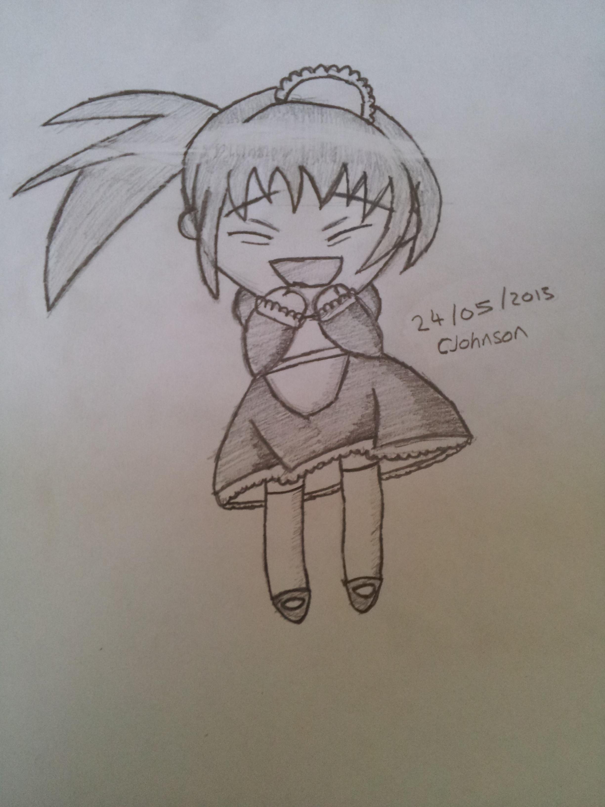 2448x3264 Drawing Happy Cute Chibi Girl Feinraf