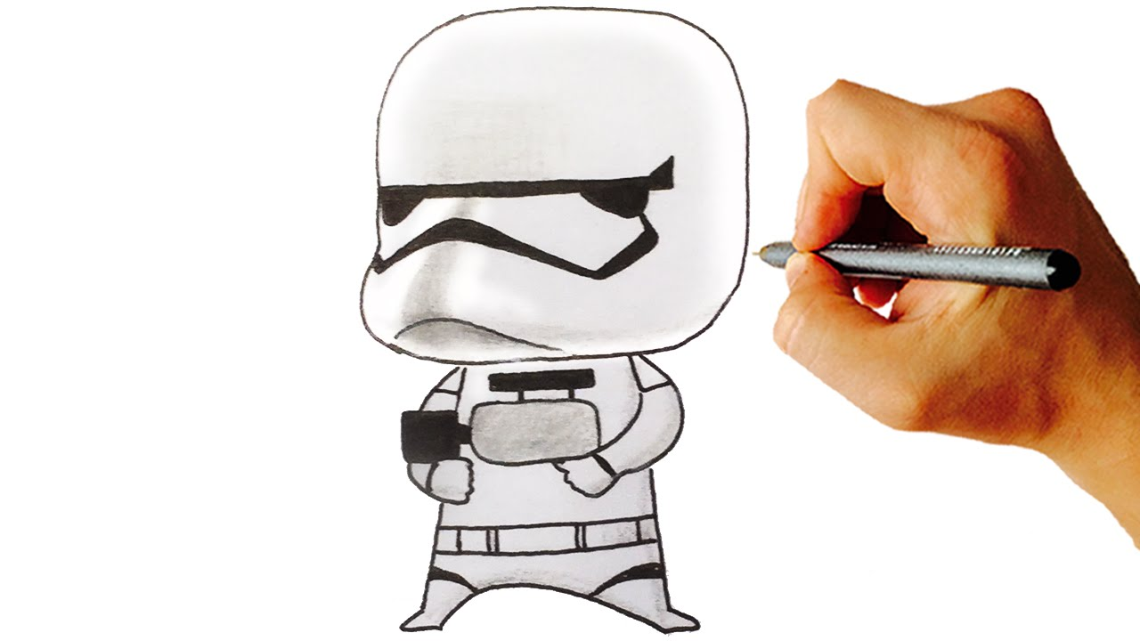 1280x720 How To Draw Stormtrooper Cute Chibi From Star Wars Easy Step By