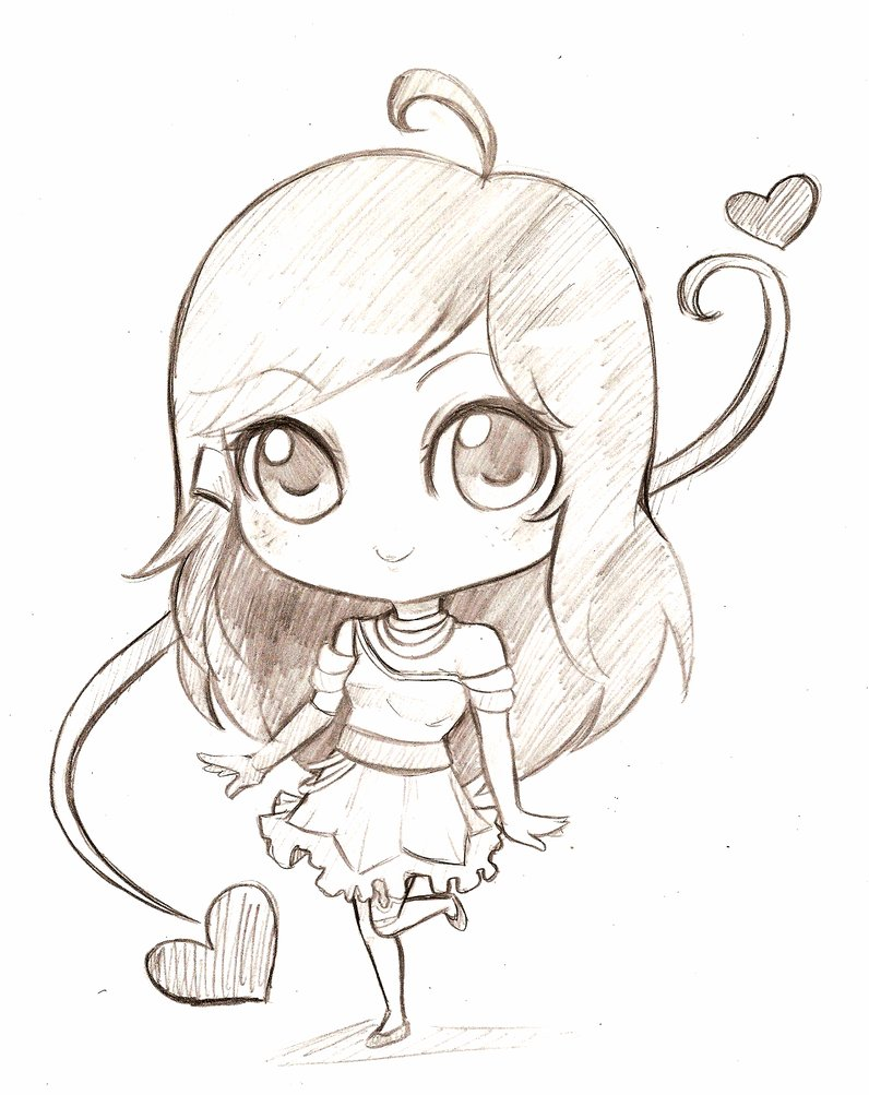796x1003 Images For Gt Animal Chibi Drawings In Pencil Drawing References