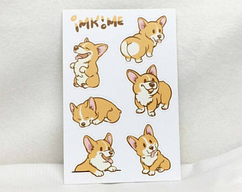 340x270 Cartoon Corgis Etsy