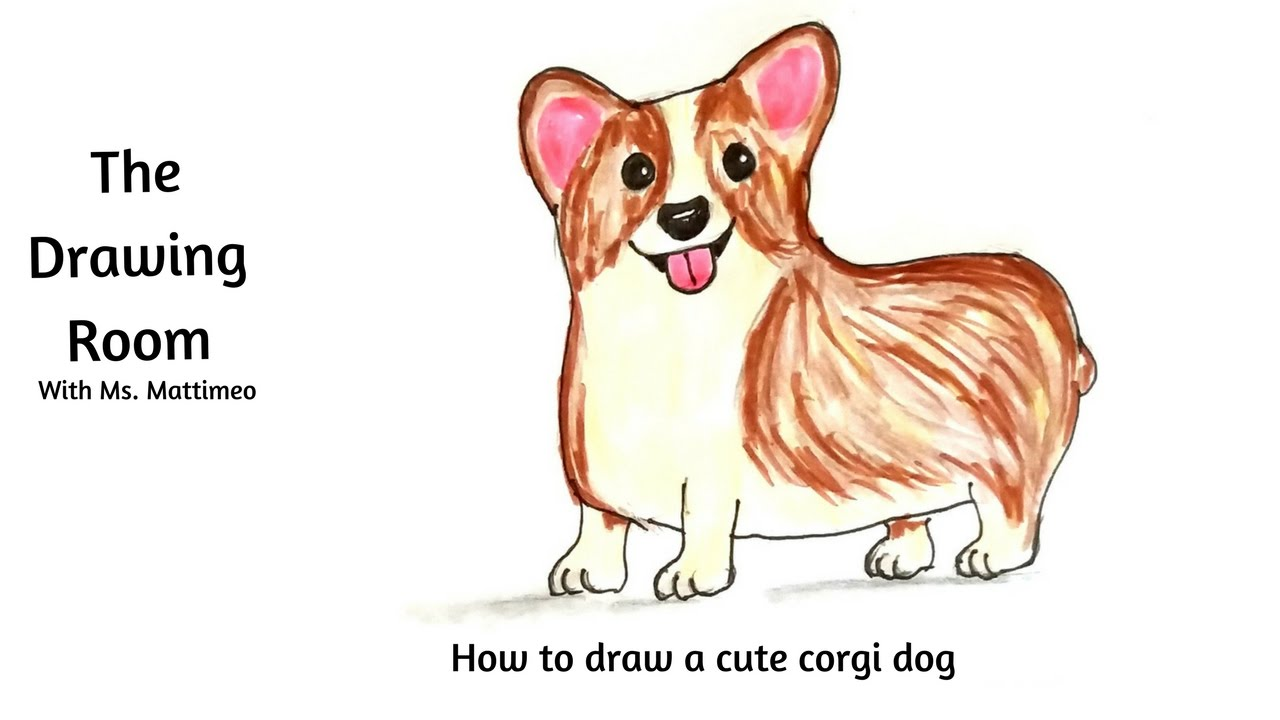 1280x720 How To Draw A Corgi Dog Draw Cute And Easy