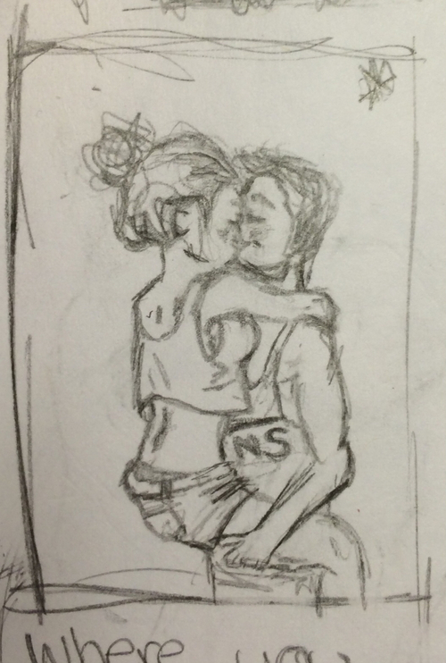500x742 Cute Couple Drawing Uploaded By Katie Grevell