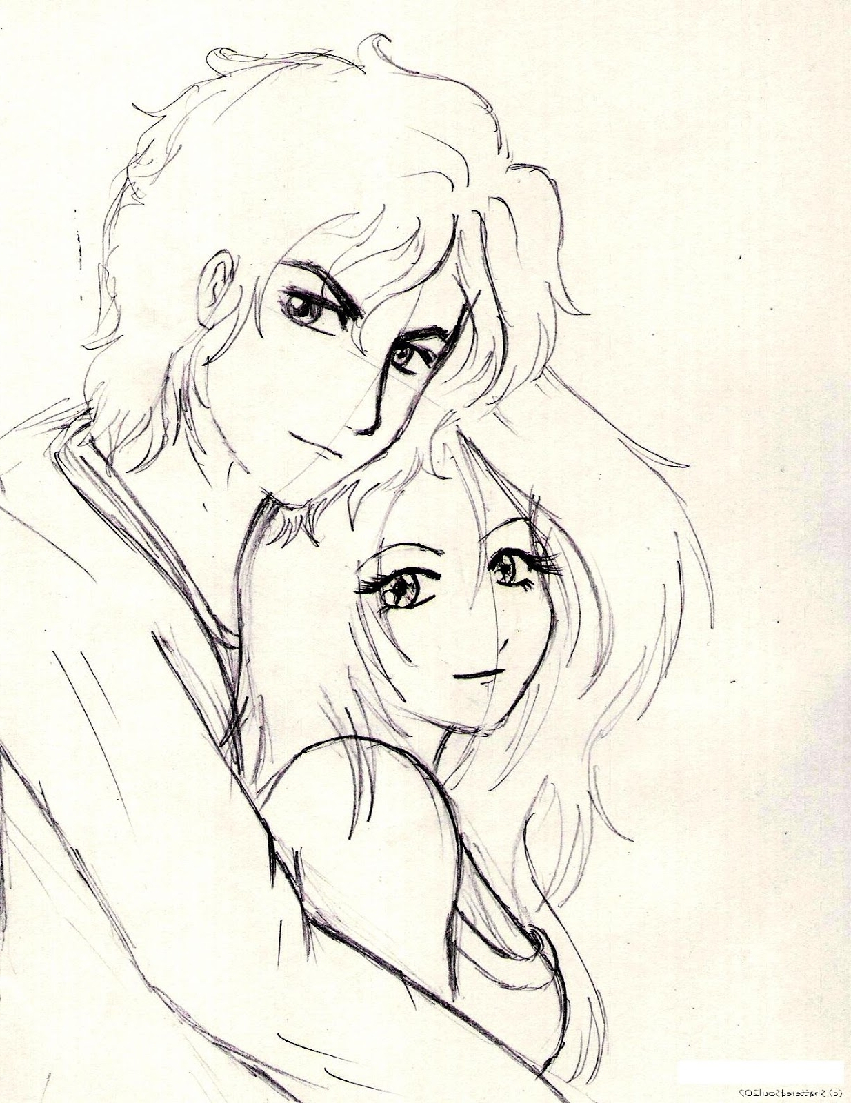 1234x1600 Simple Colorful Sketch Cute Couple Simple Colorful Sketch