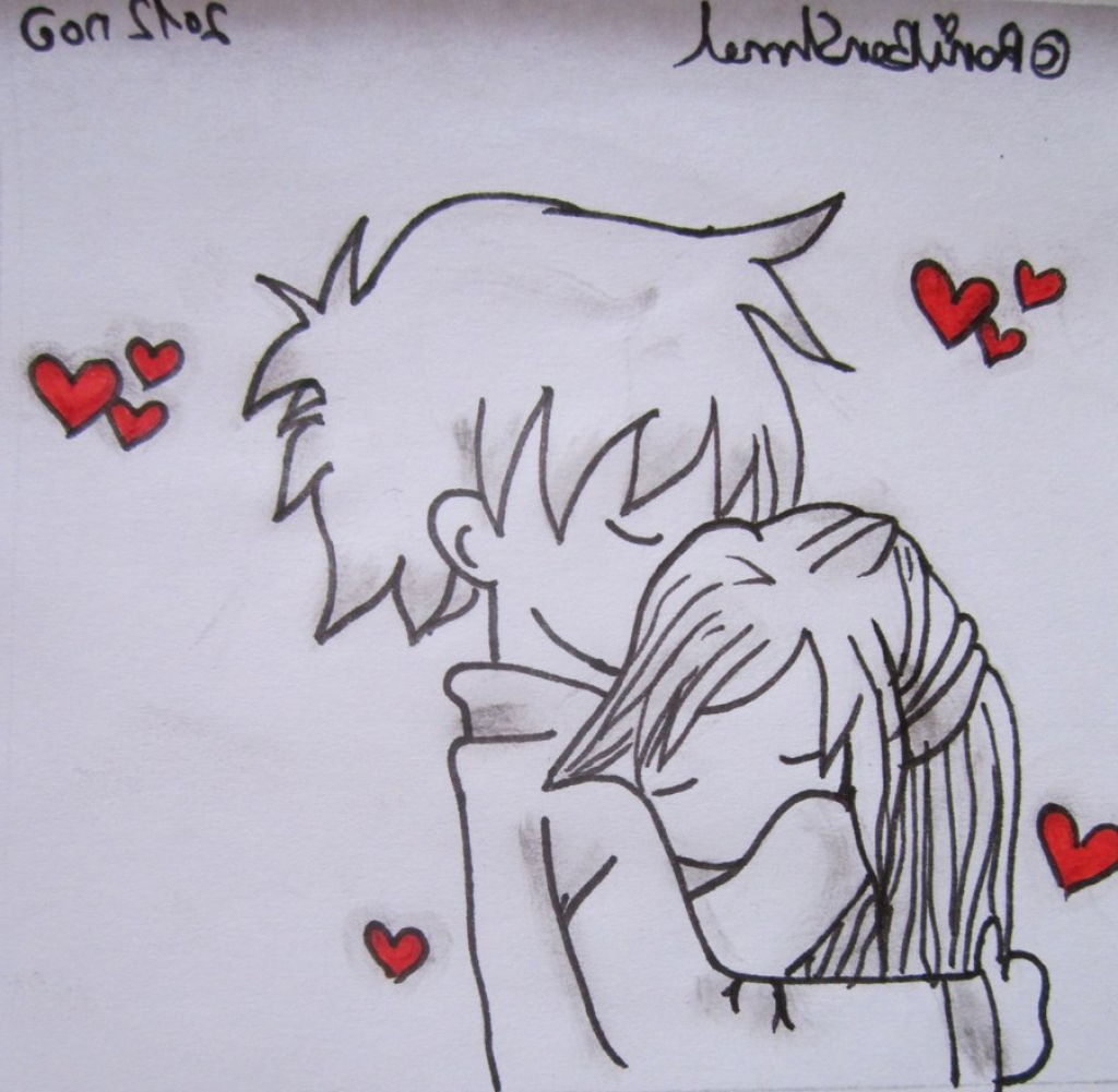 1024x1001 Cute Anime Drawing Couple Hugging Anime Couple Hugging Anime Cute