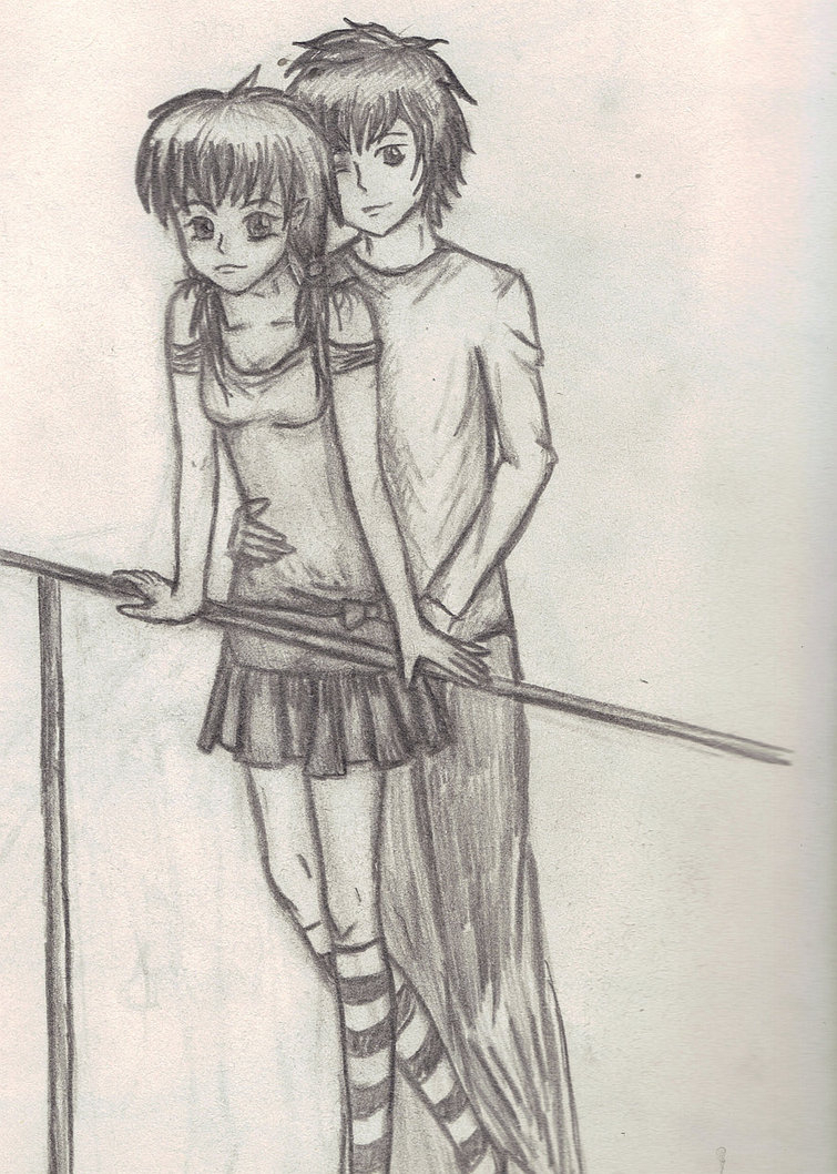 755x1058 Pencil Sketches Of Cute Couples Hugging Cute Pictured Of Pencil