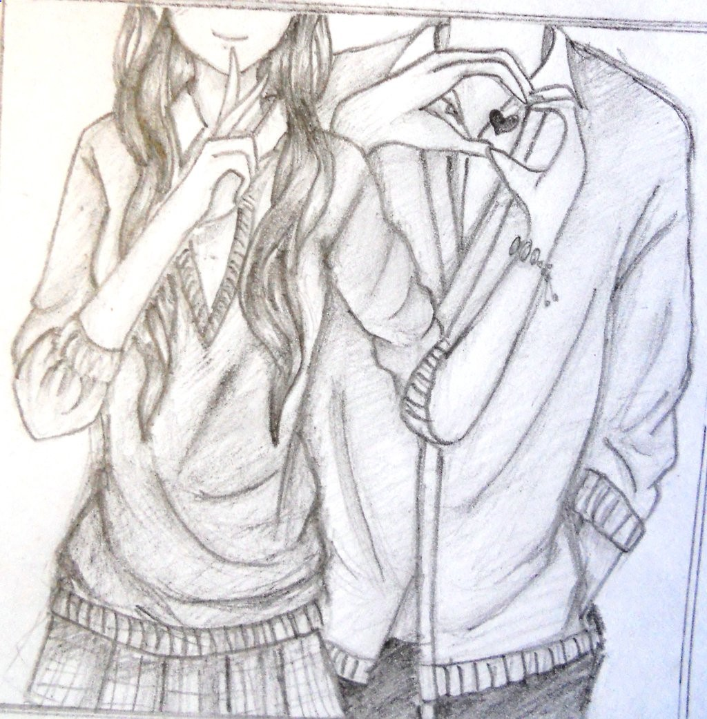 1024x1041 Cute Couple Drawings