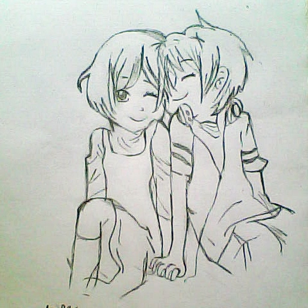 1024x1024 Cute Couple Pencil Drawing Cute Couple Pencil Sketch Images