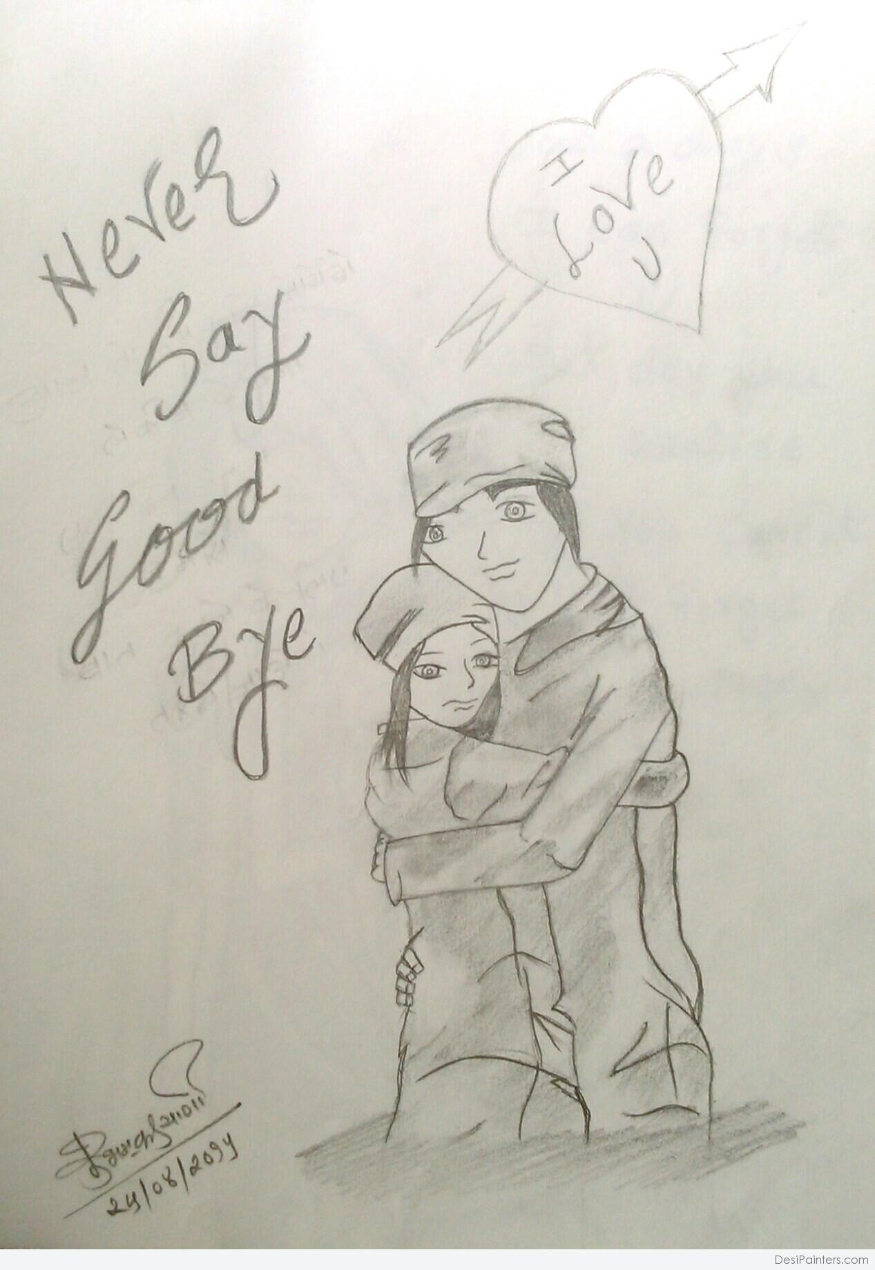 1267x1839 Photos Pencil Sketches Of Cute Couple For Dp,