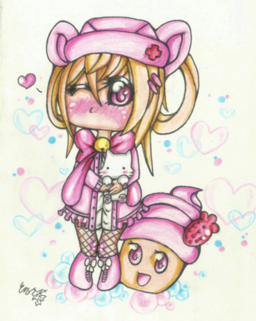 900x1127 Cupcake Girl by CUTE ChibiMONSTERZ on DeviantArt