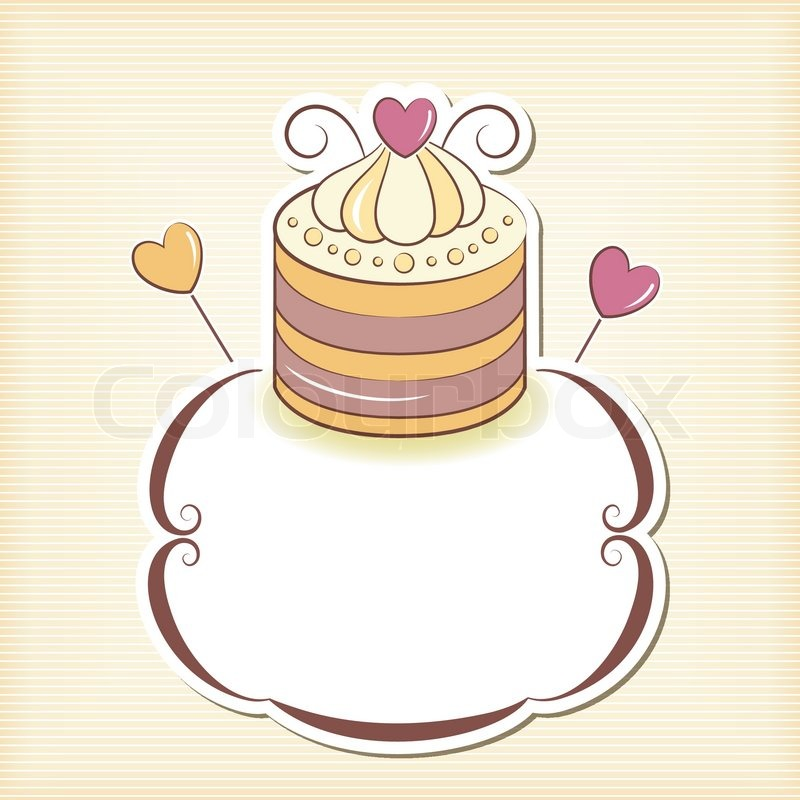 800x800 Cute cupcake design frame Stock Vector Colourbox