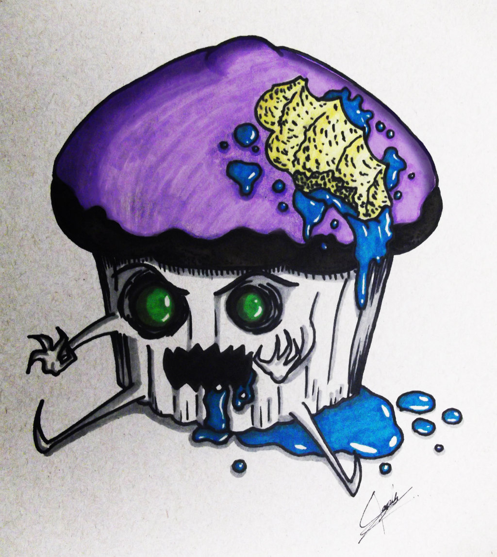 1024x1148 zombie cupcake! by kahin666 on DeviantArt
