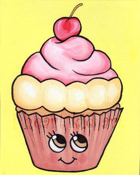 480x600 Cupcakes Drawings
