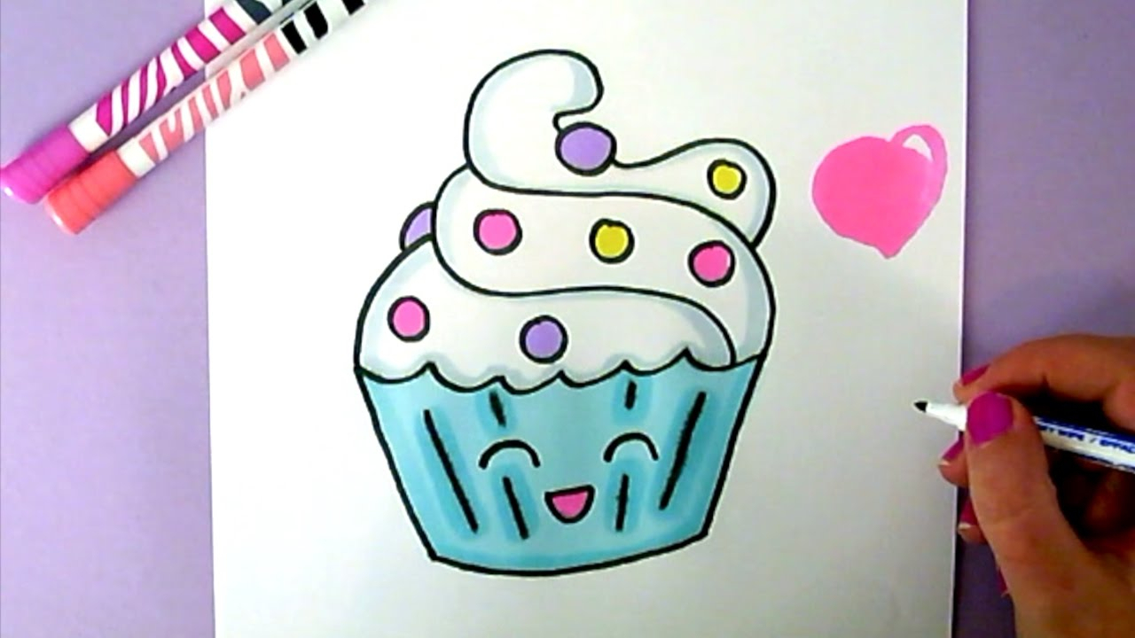 1280x720 Cute Cupcake Drawings Cupcake Marvelous How To Draw Frosting Cute