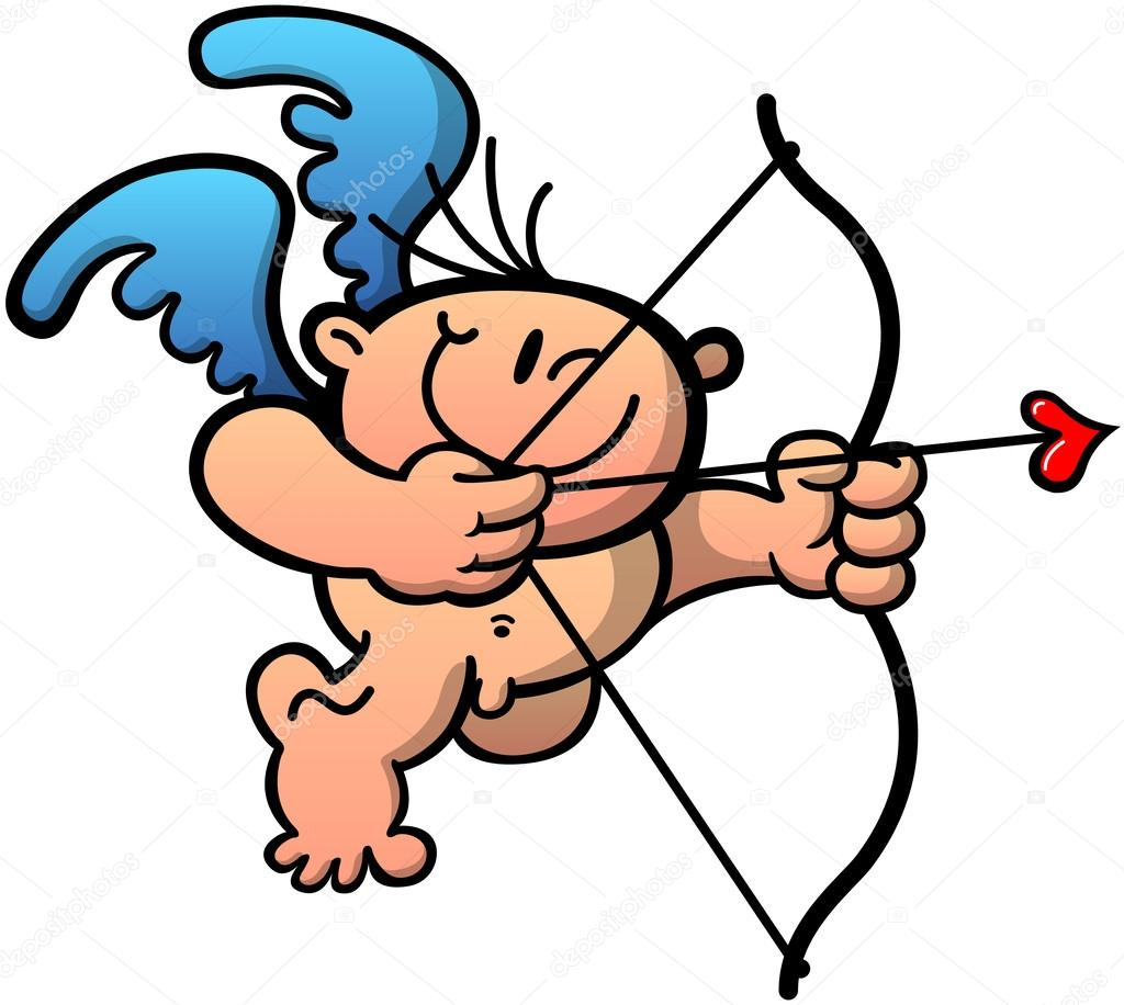 1024x916 Cute naked Cupid Stock Vector © zoo co