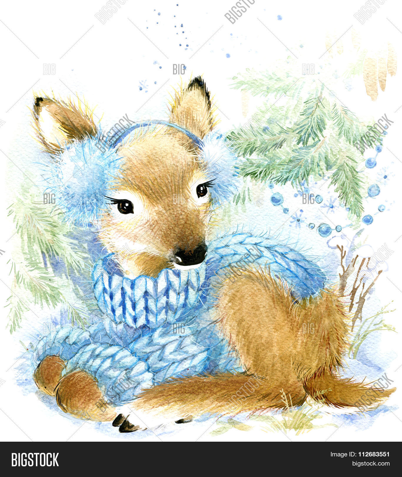 1366x1620 Cute Baby Deer Winter Forest. Cute Image amp Photo Bigstock