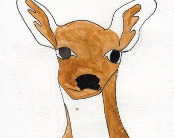 340x270 Cute Deer Etsy
