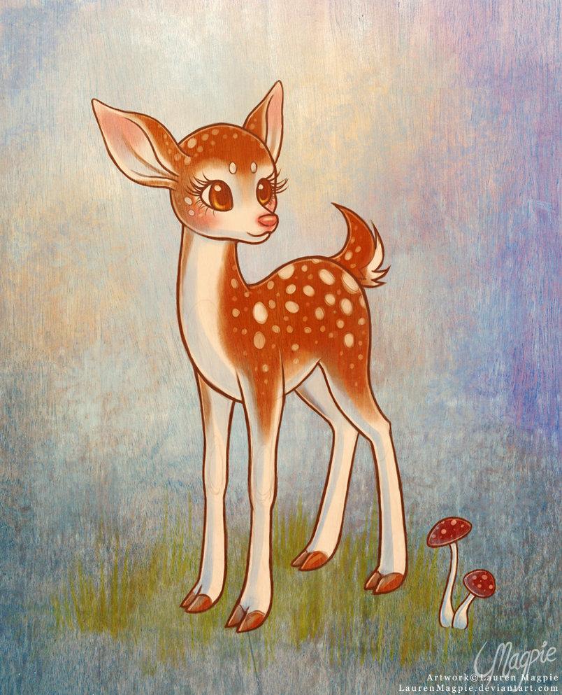 804x993 Little Deer by LaurenMagpie on DeviantArt