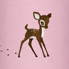 236x236 baby deer drawing