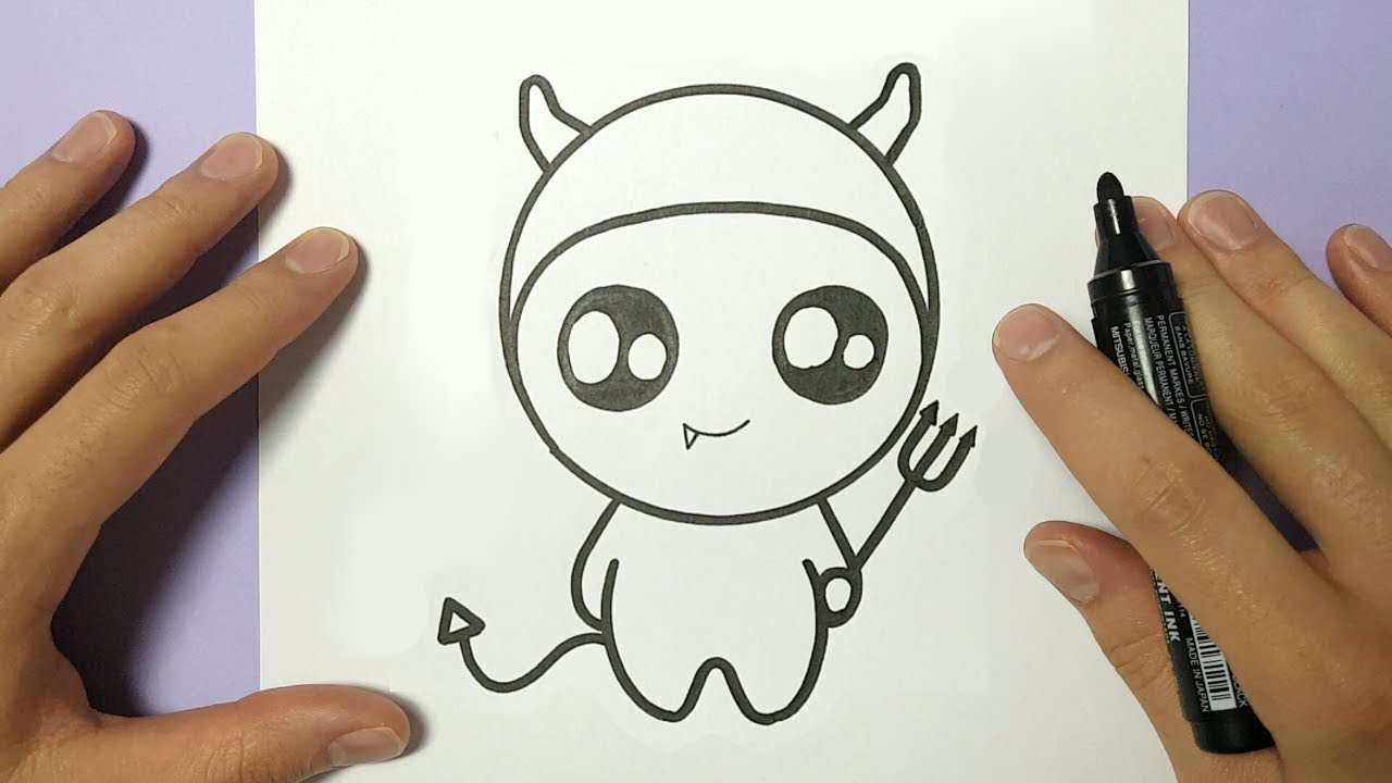 1280x720 HOW TO DRAW CUTE HALLOWEEN DEVIL