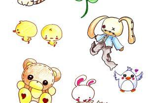 300x210 Cute Anime Animal Drawings Cute Anime Animal Drawings 13. How