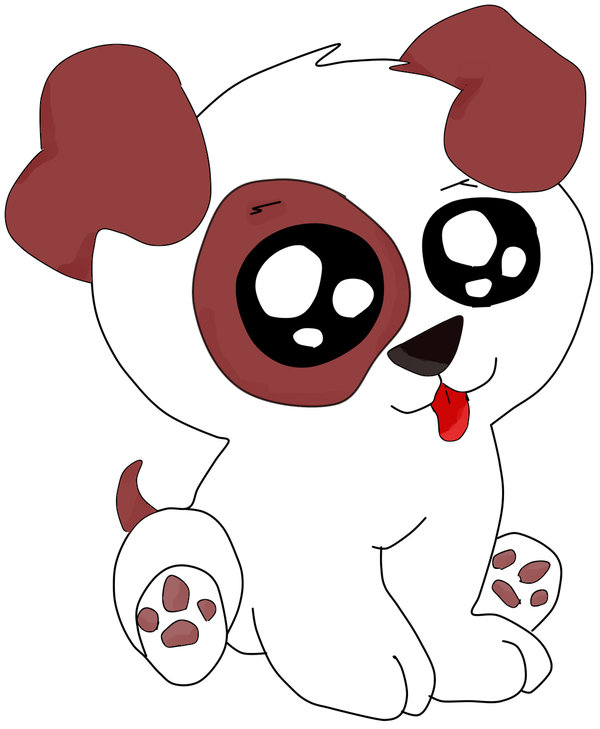 600x729 Cute Anime Puppy
