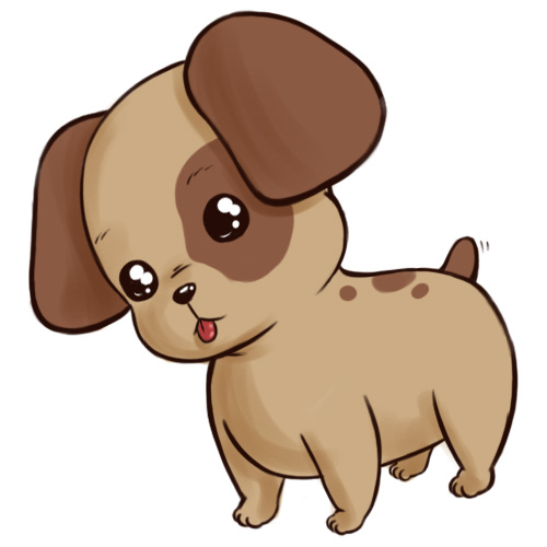 500x500 How To Draw A Cute Anime Cartoon Puppy