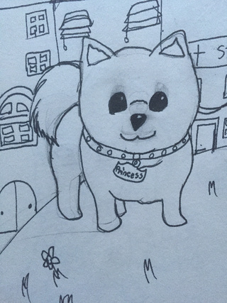 Wonderful Pomeranian Anime Adorable Dog - cute-dog-anime-drawing-63  Pictures_68622  .jpg