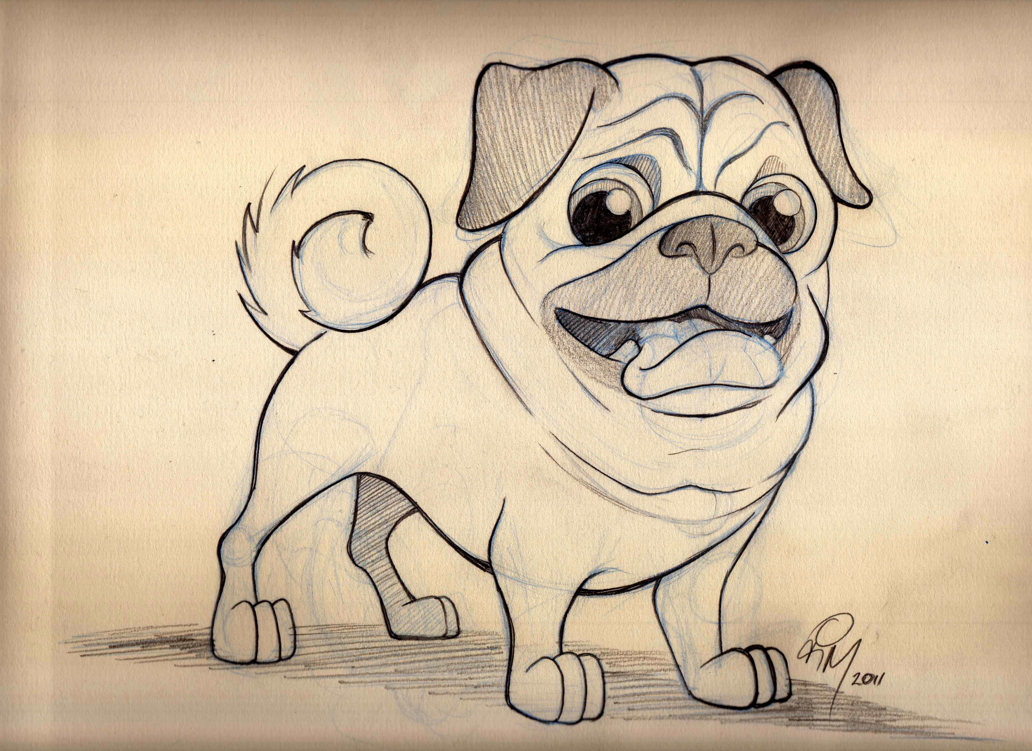 Cute Dog Cartoon Drawing At Getdrawings Com Free For Personal Use