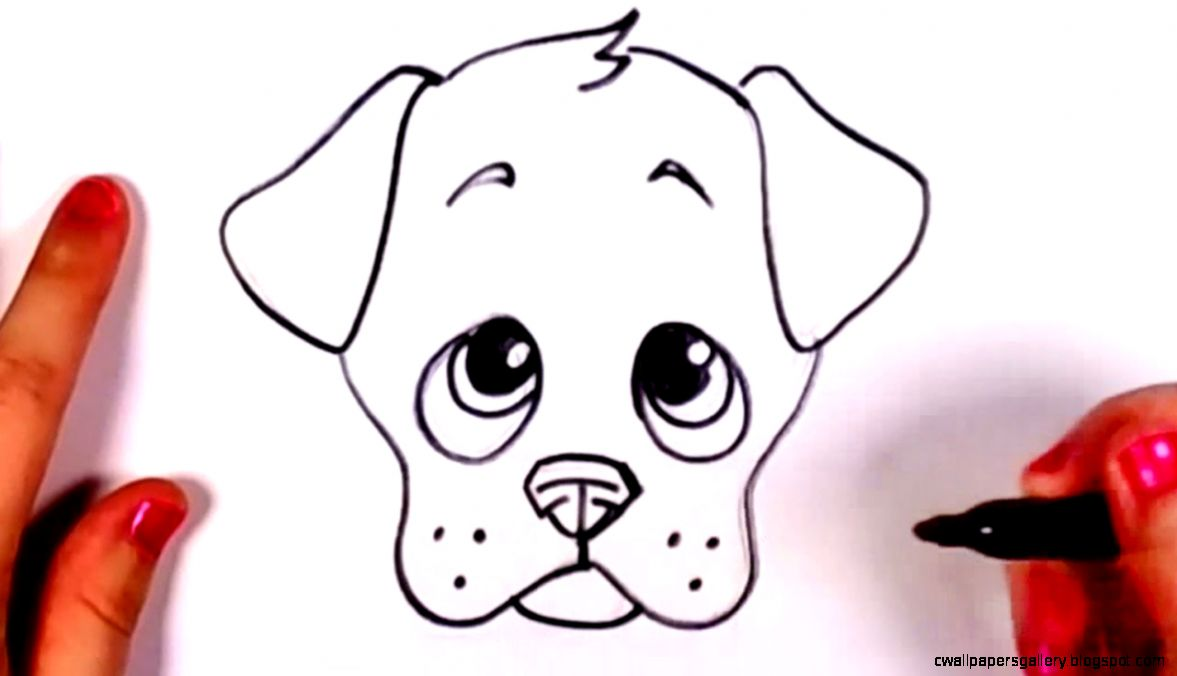 1177x676 Cute Dog Face Drawing Wallpapers Gallery