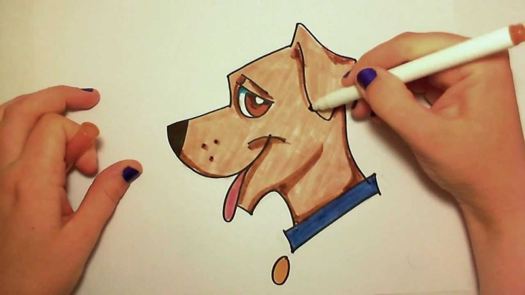 1024x576 Easy Dog Drawings Learn How To Draw Easy A Cute Dog Icanhazdraw