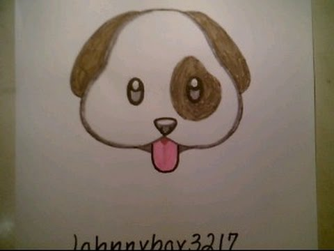 480x360 How To Draw Emoji Dog Faces For Kids Cat Beginners Easy Cute Dog